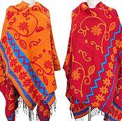 Одежда ручной работы. Ярмарка Мастеров - ручная работа Пончо Шарф палантин плед платок покрывало бохо хиппи этническая. Handmade.