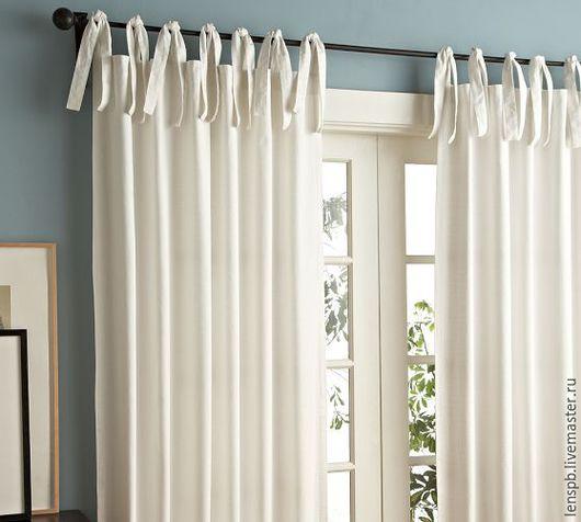 Текстиль, ковры ручной работы. Ярмарка Мастеров - ручная работа. Купить Белые льняные шторы. Handmade. Шторы из льна