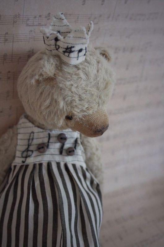 Мишки Тедди ручной работы. Ярмарка Мастеров - ручная работа. Купить Музыка.... Handmade. Мишка, music, глазки стеклянные