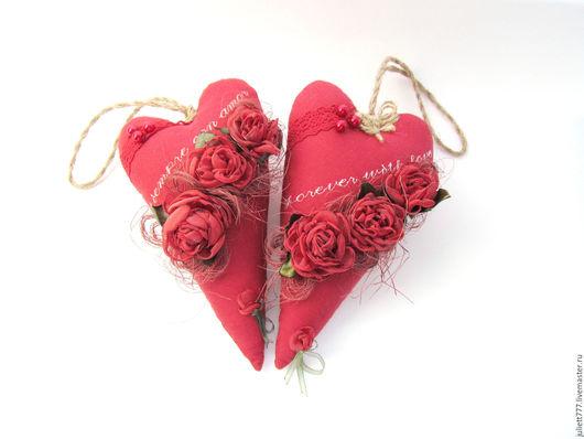 Куклы Тильды ручной работы. Ярмарка Мастеров - ручная работа. Купить Сердце для Тебя. Handmade. Красный, подарок девушке, органза