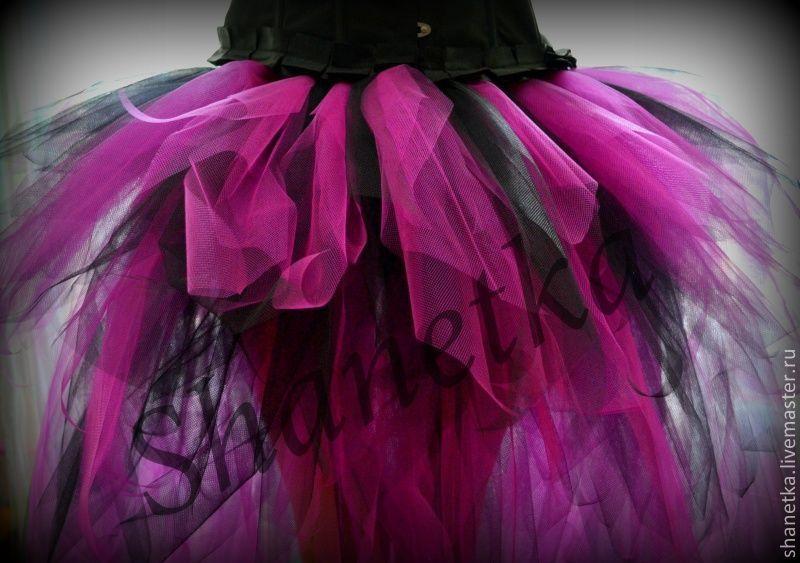Как сшить юбку хризантему из фатина со шлейфом 37