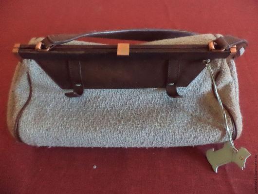Реставрация. Ярмарка Мастеров - ручная работа. Купить текстильный саквояж;  RADLEY  оригинал Англия. Handmade. Голубой, кожа