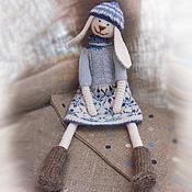 Куклы и игрушки ручной работы. Ярмарка Мастеров - ручная работа Зайка вязаная игрушка ручной работы.. Handmade.