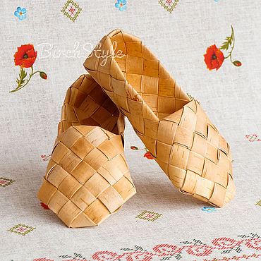 Footwear handmade. Livemaster - original item These sandals woven from birch bark, sizes 34-45. Shoes for the bath. Handmade.