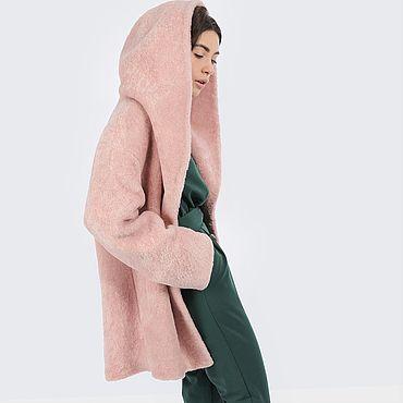 Одежда ручной работы. Ярмарка Мастеров - ручная работа Шерстяное пальто-шуба с капюшоном. До -10 мороза. Handmade.