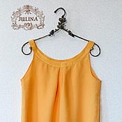 """Одежда ручной работы. Ярмарка Мастеров - ручная работа Блузка шелковая """"Манго"""". Handmade."""