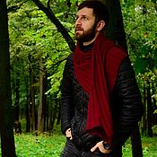 Аксессуары handmade. Livemaster - original item Scarves: knitted scarf Bordeaux. Handmade.