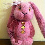 Куклы и игрушки ручной работы. Ярмарка Мастеров - ручная работа Розовый зайка. Handmade.