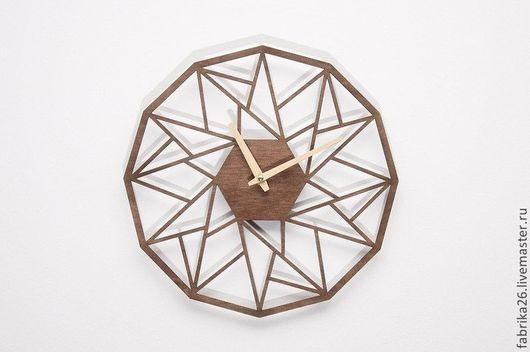 Часы для дома ручной работы. Ярмарка Мастеров - ручная работа. Купить Деревянные часы из натурального шпона. Handmade. Часы, лак
