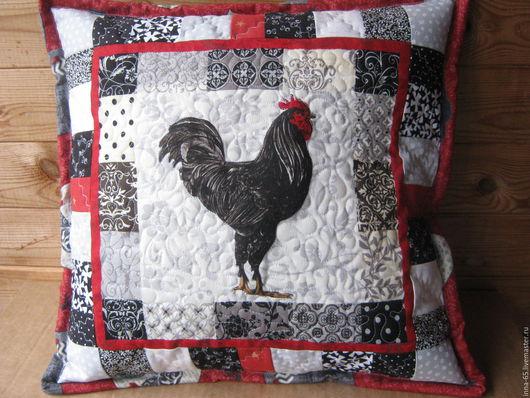 Текстиль, ковры ручной работы. Ярмарка Мастеров - ручная работа. Купить Подушка лоскутная интерьерная. Handmade. Комбинированный, подушка на диван