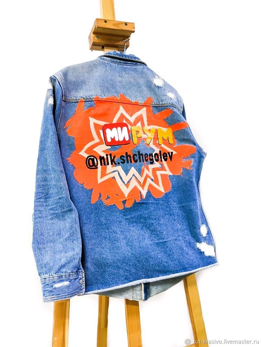 Джинсовка с ручной росписью, Куртки, Пермь,  Фото №1