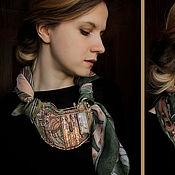 """Украшения ручной работы. Ярмарка Мастеров - ручная работа """"The Song of Spring Awakening"""" колье и шарф. Handmade."""