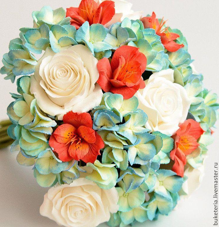 С цветами из полимерной глины handmade