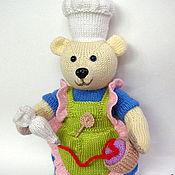 Куклы и игрушки ручной работы. Ярмарка Мастеров - ручная работа мишка-кондитер. Handmade.