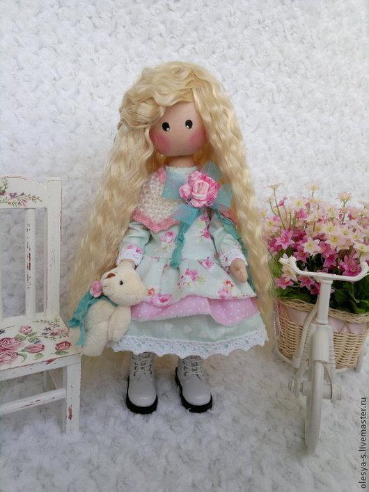 Коллекционные куклы ручной работы. Ярмарка Мастеров - ручная работа. Купить Charlotte. Handmade. Бирюзовый, подарок подруге, кружево винтажное
