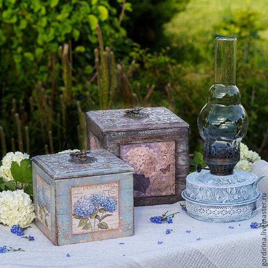 """Кухня ручной работы. Ярмарка Мастеров - ручная работа. Купить набор """" Ma fleur preferee"""". Handmade. Голубой, лампа"""