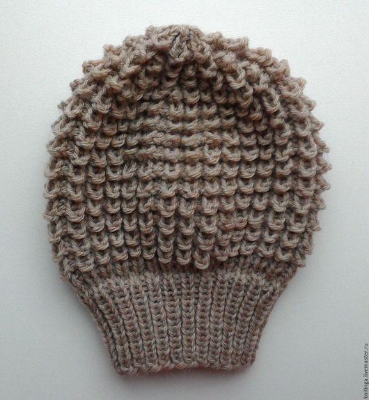 Шапки и шарфы ручной работы. Ярмарка Мастеров - ручная работа. Купить Детский вязанный берет/шапка 40-42 см.. Handmade.