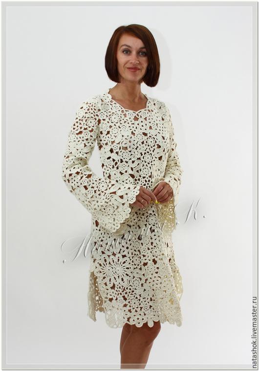 Платья ручной работы. Ярмарка Мастеров - ручная работа. Купить Патриция. Handmade. Белый, Платье нарядное, платье крючком, ирландия