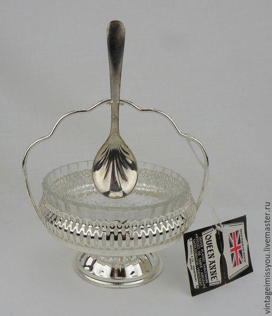 Винтажная посуда. Ярмарка Мастеров - ручная работа. Купить Винтажная посеребренная вазочка для варенья. Handmade. Серебряный, варенье, стекло