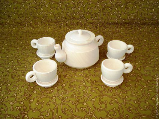 Декупаж и роспись ручной работы. Ярмарка Мастеров - ручная работа. Купить Маленький набор чайной посуды, 10 предметов. Handmade.