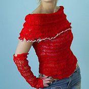 Одежда ручной работы. Ярмарка Мастеров - ручная работа блузон Маков цвет-. Handmade.