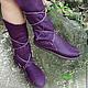 """Обувь ручной работы. Ярмарка Мастеров - ручная работа. Купить Кожаные мокасины """"Purple Dream"""". Handmade. Тёмно-фиолетовый"""