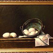 Картины и панно ручной работы. Ярмарка Мастеров - ручная работа Натюрморт с котелком. Handmade.