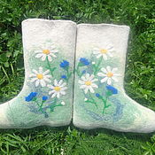 Обувь ручной работы. Ярмарка Мастеров - ручная работа Валенки  Ромашки. Handmade.