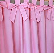 """Для дома и интерьера ручной работы. Ярмарка Мастеров - ручная работа Шторы на петлях """"Розовые бантики"""". Handmade."""