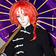 Одежда выполнена по артам костюма из аниме `Гинтама` (Gintama), персонаж - Камуи. Индивидуальный заказ, Флана