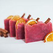 Косметика ручной работы handmade. Livemaster - original item Natural soap from scratch Mulled wine handmade red wine. Handmade.