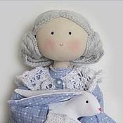 Куклы и игрушки ручной работы. Ярмарка Мастеров - ручная работа Кукла текстильная интерьерная с кроликом Снегурочка. Handmade.