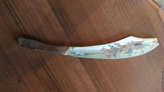 Винтажные предметы интерьера. Ярмарка Мастеров - ручная работа. Купить Антикварный деревянный нож для бумаг.. Handmade. Коричневый