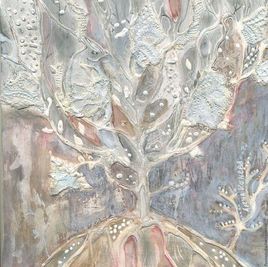 Древо сновидений.  Картина сказка,картина для души, картина- медитация. Авторски сюжет на холсте в раме. Сказка в теплоте рук Алены Коневой