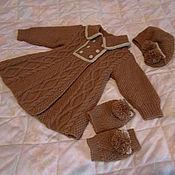 Работы для детей, ручной работы. Ярмарка Мастеров - ручная работа пальто с беретом и гетрами. Handmade.