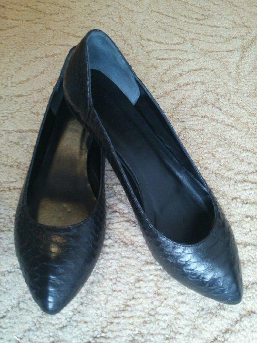 Обувь ручной работы. Ярмарка Мастеров - ручная работа. Купить Балетки из кожи питона. Handmade. Туфли, туфли из кожи