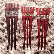 Украшения handmade. Livemaster - original item Woodem hairpin Sudarushka from a tree with inlay, hair clip. Handmade.