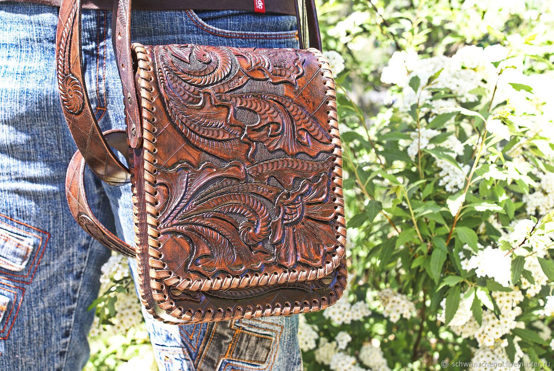 Men's Bags handmade. Livemaster - handmade. Buy Men's black leather bag.Leather bag, leather ladies handbag