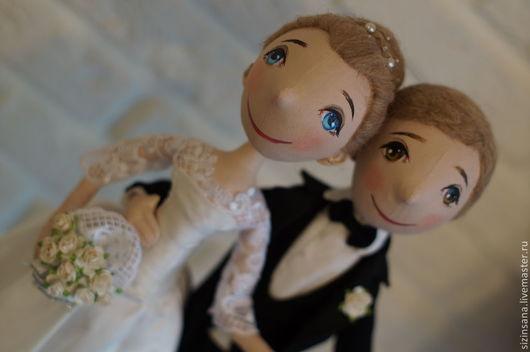 Портретные куклы ручной работы. Ярмарка Мастеров - ручная работа. Купить Свадьба. Портретные куколки. Handmade. Чёрно-белый