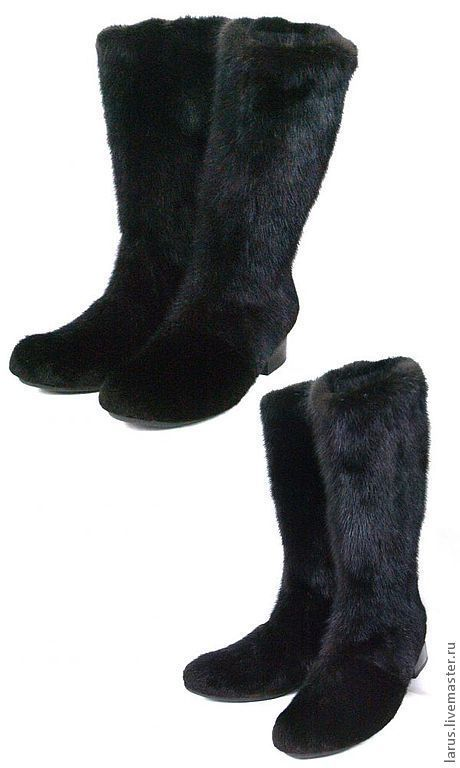 Обувь ручной работы. Ярмарка Мастеров - ручная работа. Купить Женские унты из меха норки. Handmade. Коричневый, сапоги женские