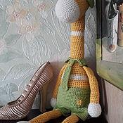 Мягкие игрушки ручной работы. Ярмарка Мастеров - ручная работа Мягкие игрушки:  Забавный жираф. Handmade.
