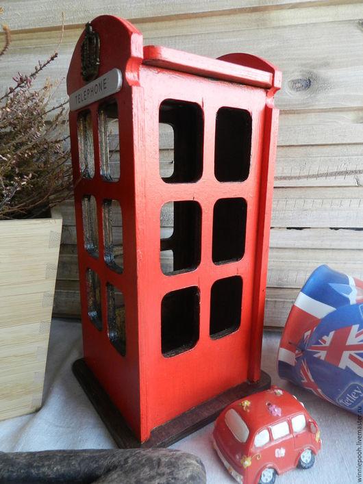 Детская ручной работы. Ярмарка Мастеров - ручная работа. Купить Телефоннвя будка Старый Лондон. Handmade. Декупаж, эко дом