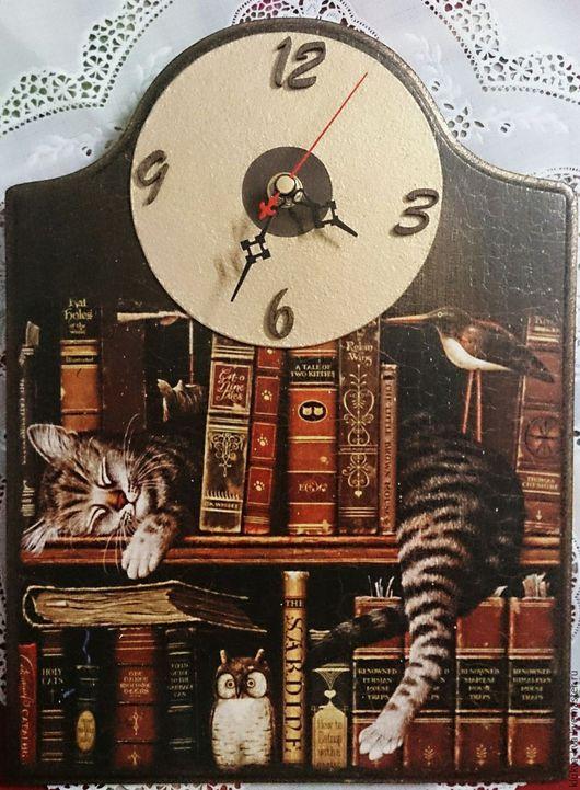 """Часы для дома ручной работы. Ярмарка Мастеров - ручная работа. Купить Настенные часы """" Минуты покоя"""". Handmade. Коричневый"""
