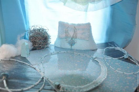 Колье, бусы ручной работы. Ярмарка Мастеров - ручная работа. Купить Голубые небеса бирюзы. Handmade. Бирюзовый, бисер