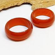 Украшения handmade. Livemaster - original item Carnelian ring wide 19 and 19.5 p-R. Handmade.