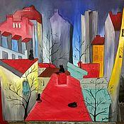 Картины и панно handmade. Livemaster - original item oil painting City. Mayakovsky. Handmade.