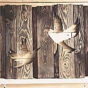Картины и панно handmade. Livemaster - original item Birds lovebird couple of panels painting wood. Handmade.