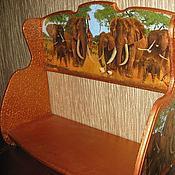 """Для дома и интерьера ручной работы. Ярмарка Мастеров - ручная работа Полка """"Слоны на прогулке"""". Handmade."""