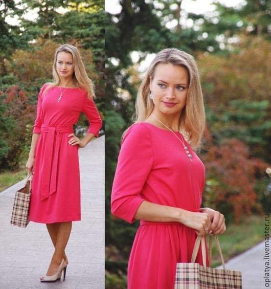 Платья ручной работы. Ярмарка Мастеров - ручная работа. Купить Платье Эффектное - платье миди. Handmade. Стильное платье короткое