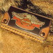 Сумки и аксессуары handmade. Livemaster - original item Purse Wallet, Harley-Davidson`s 111th anniversary. Handmade.